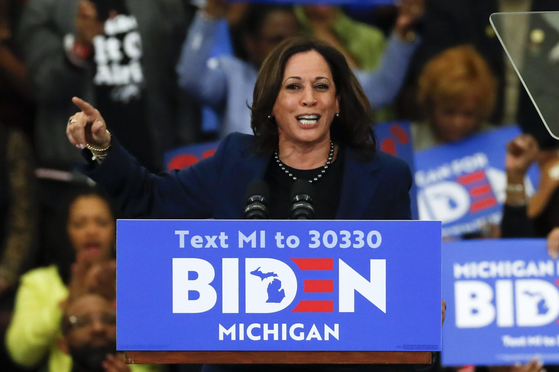 Kamala Harris at Joe Biden rally
