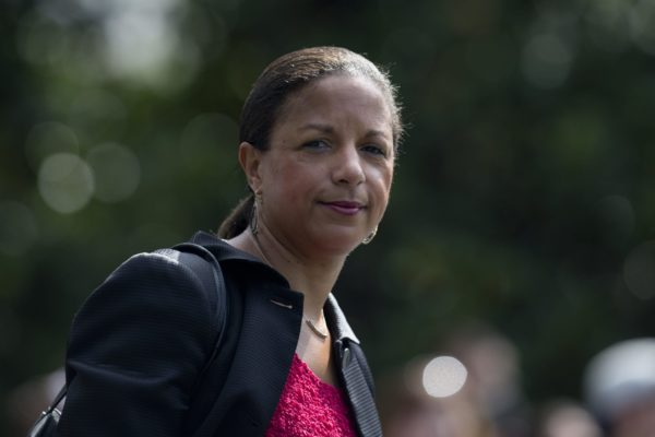 Susan Rice looks into the camera.