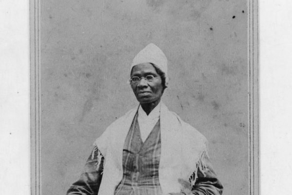 An archival portrait of Sojourner Truth.