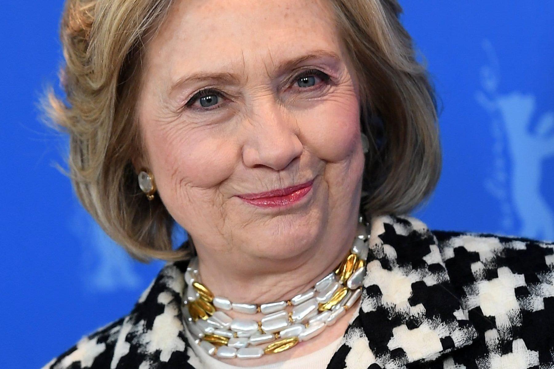 Hillary Clinton smiling.