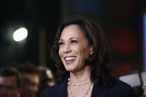 Kamala Harris smiling.
