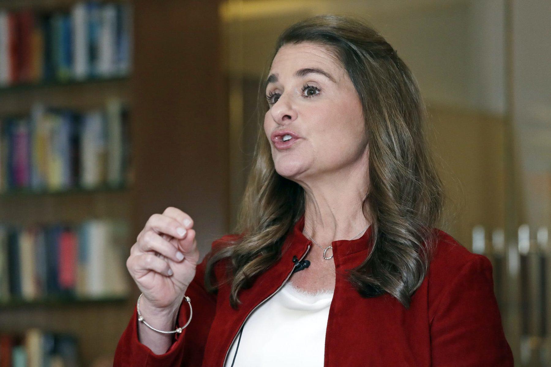 Melinda Gates speaking.