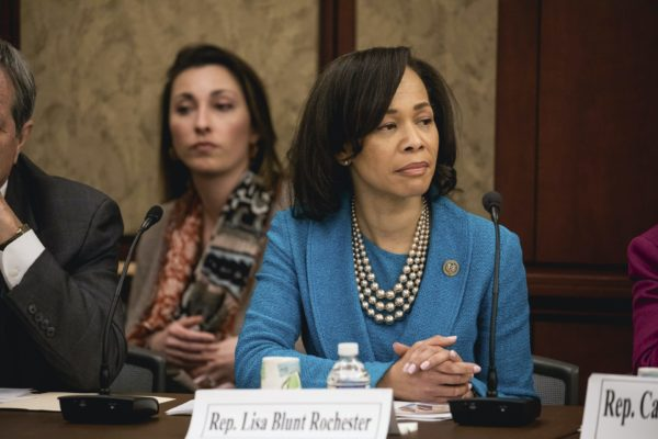 Rep. Lisa Blunt Rochester (D-DE At-large District), at a forum to examine evidence-based violence prevention and school safety measures. The forum was held on Capitol Hill in Washington, D.C., on Tuesday, March 20, 2018.