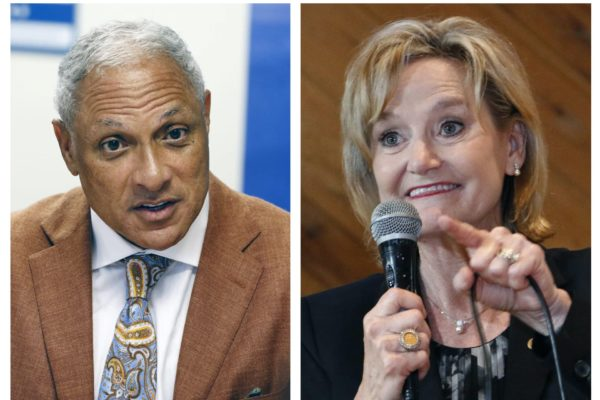 A photo composite of Mississippi U.S. candidates Mike Espy and Cindy Hyde-Smith.