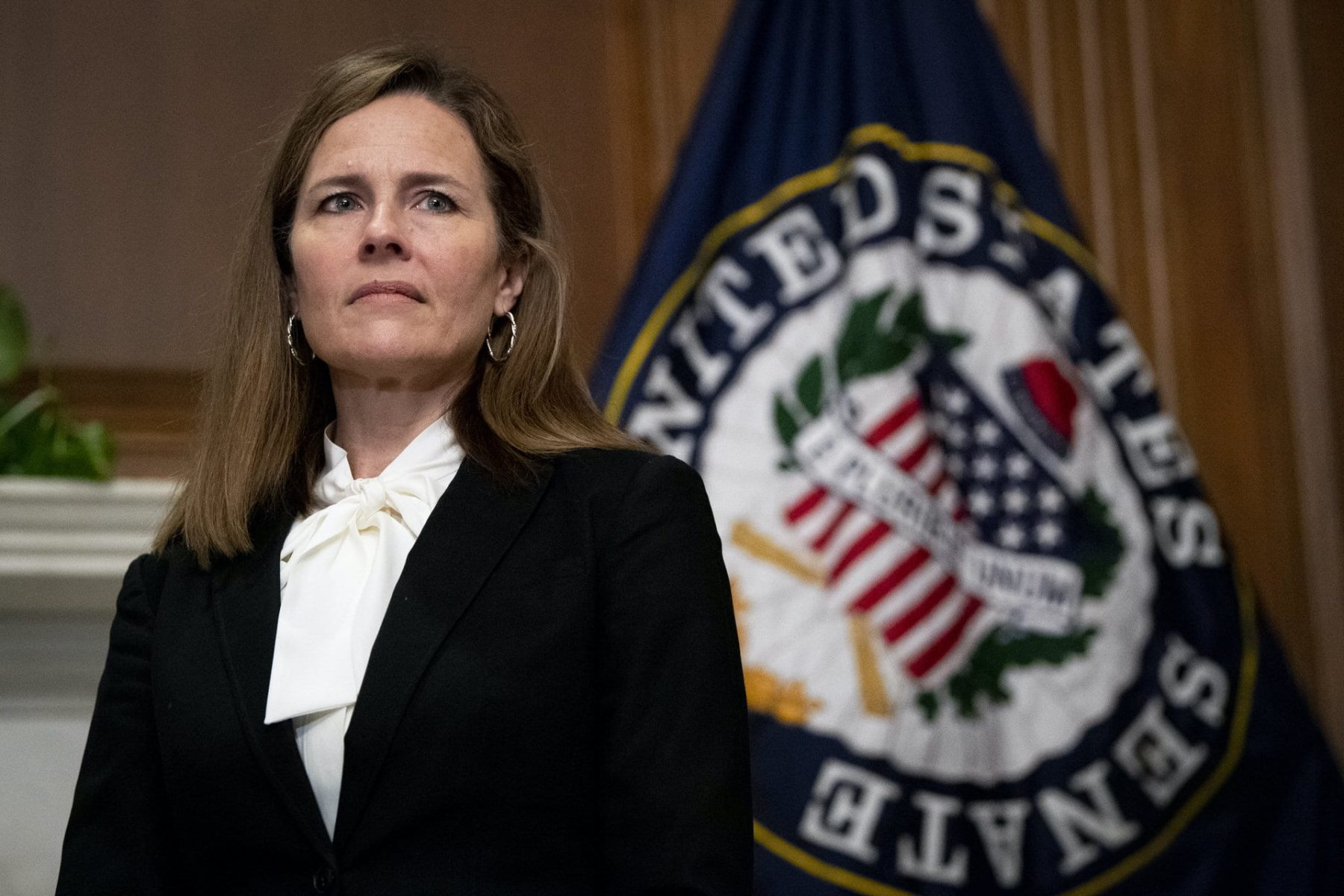 Supreme Court nominee Judge Amy Coney Barrett at the Capitol in Washington