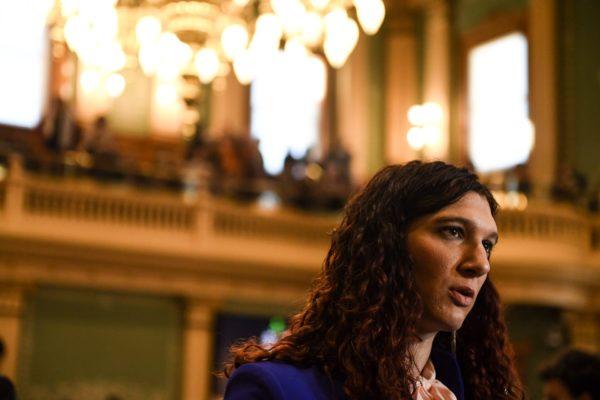Rep. Brianna Titone on the House floor.
