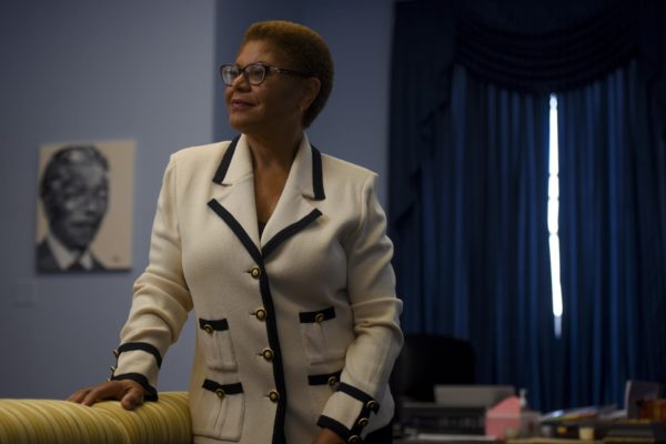 U.S. Rep. Karen Bass photographed in her office at the Rayburn House Office Building on Thursday, July 30, 2020.