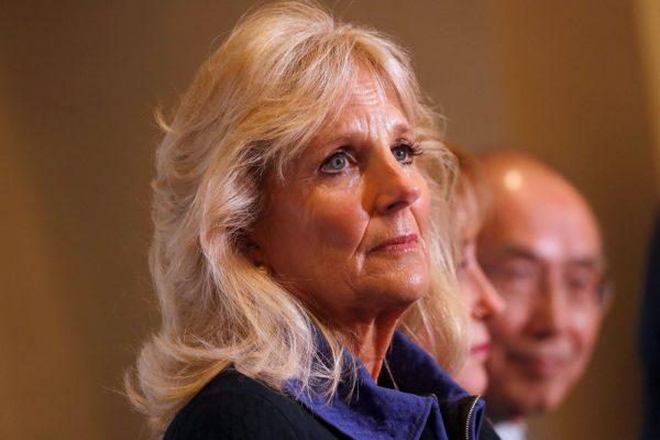 A close-up photo of Jill Biden.