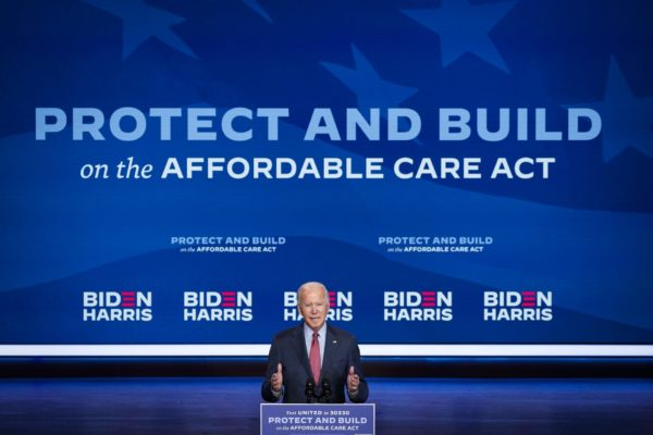 Joe Biden delivers remarks about the Affordable Care Act.