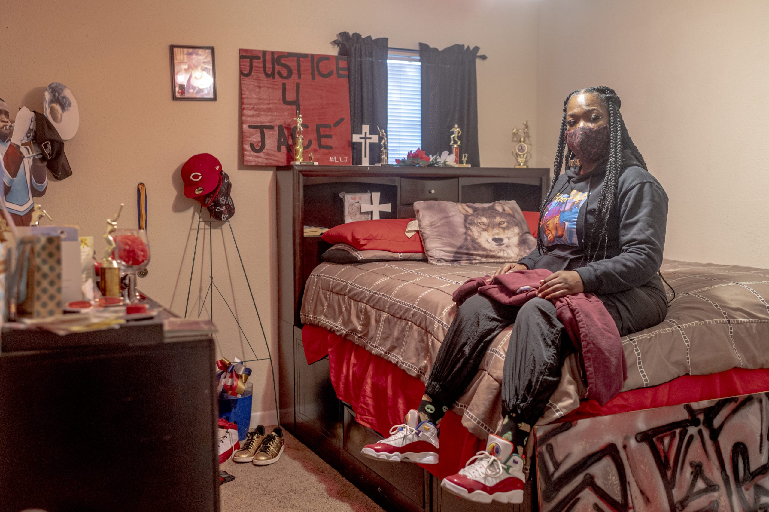 For Shanta Scott, eviction would mean packing up her late son's bedroom, her last physical tether to him.