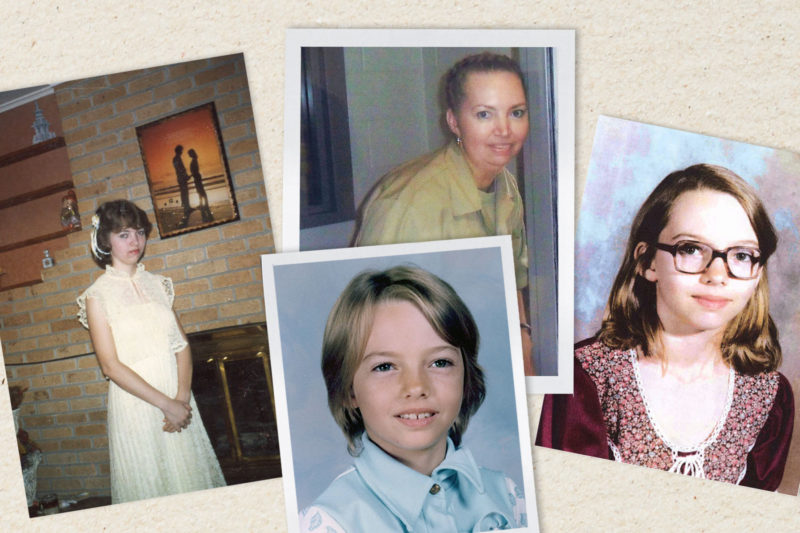 A photo collage of Lisa Montgomery