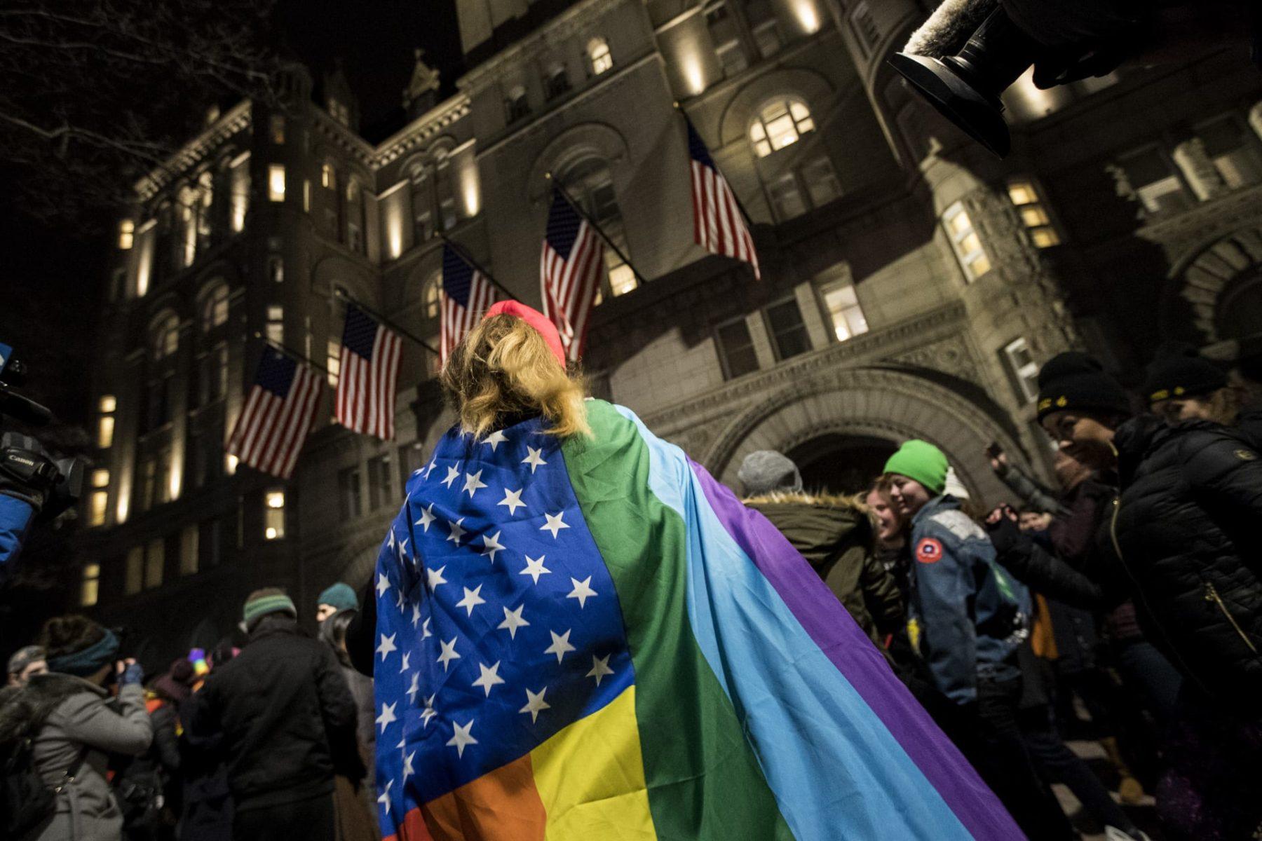 Activists Protest Trump's Executive Orders In Washington DC.