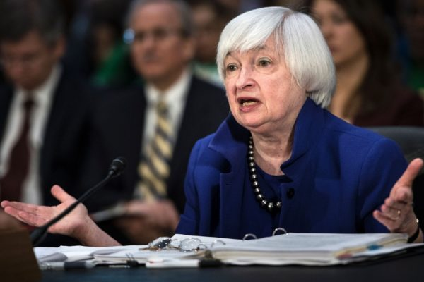 Janet Yellen speaks about the Federal Reserve's semiannual report.