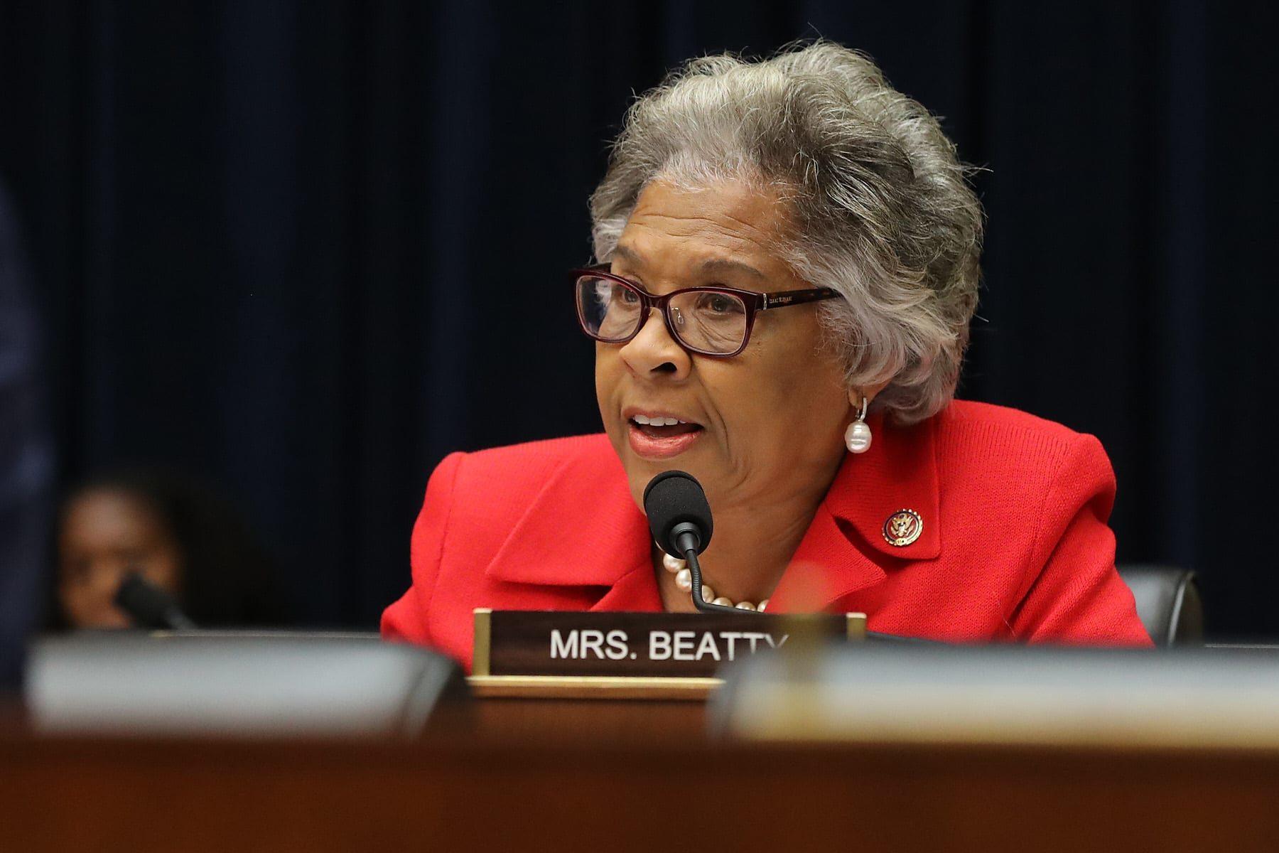 Rep. Joyce Beatty asks questions at a hearing.