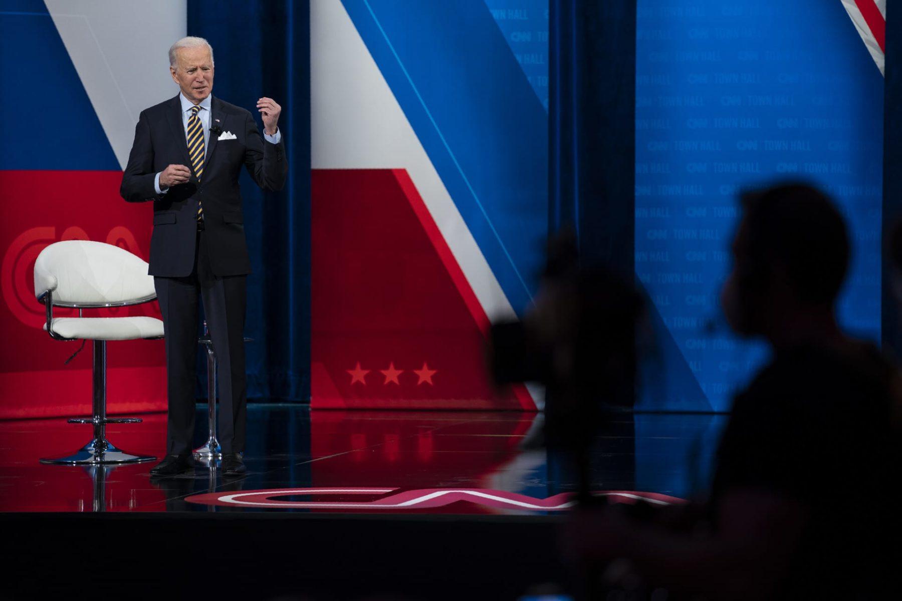 Joe Biden speaks at town hall