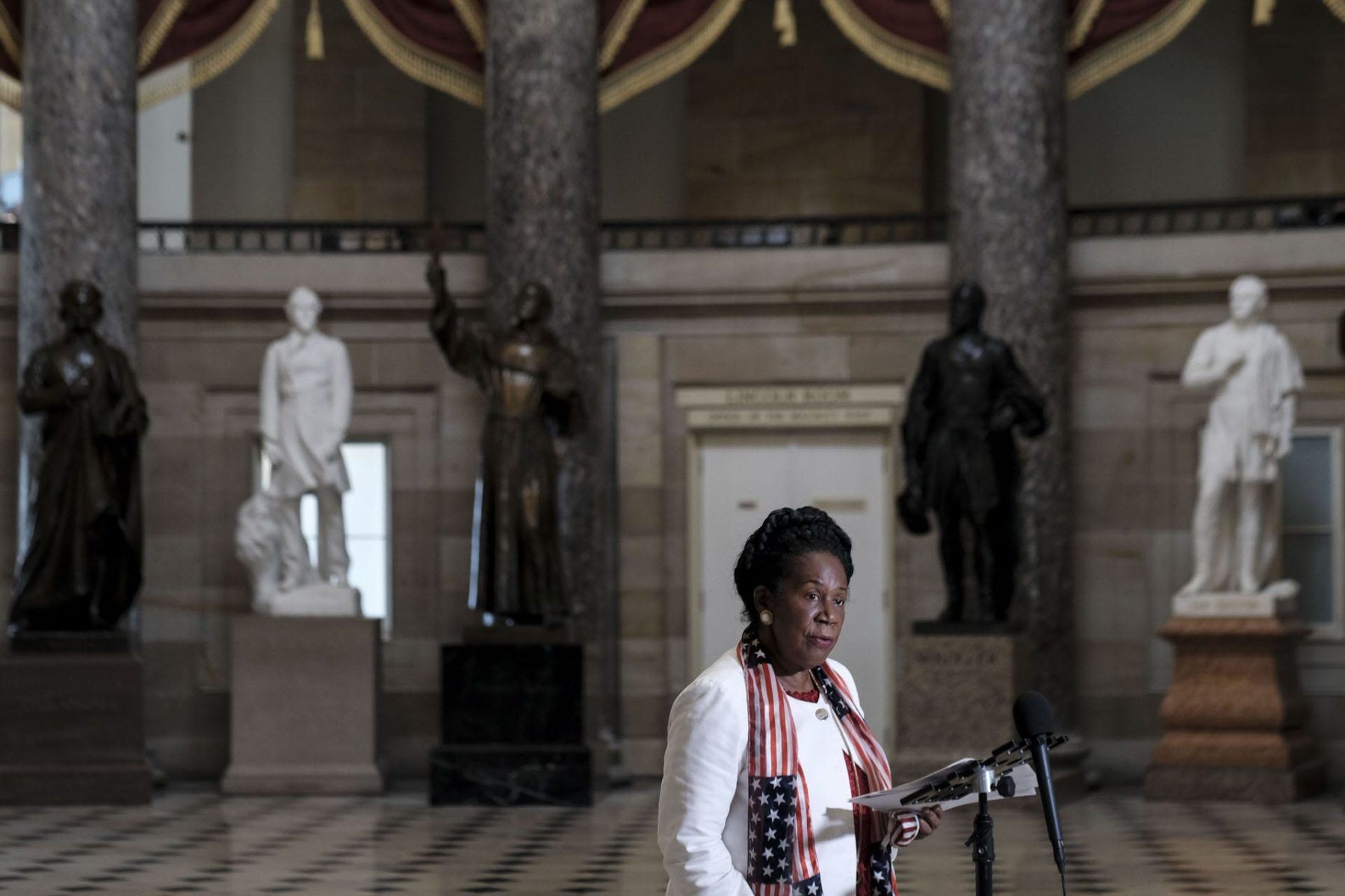 Rep. Sheila Jackson Lee in the Capitol.