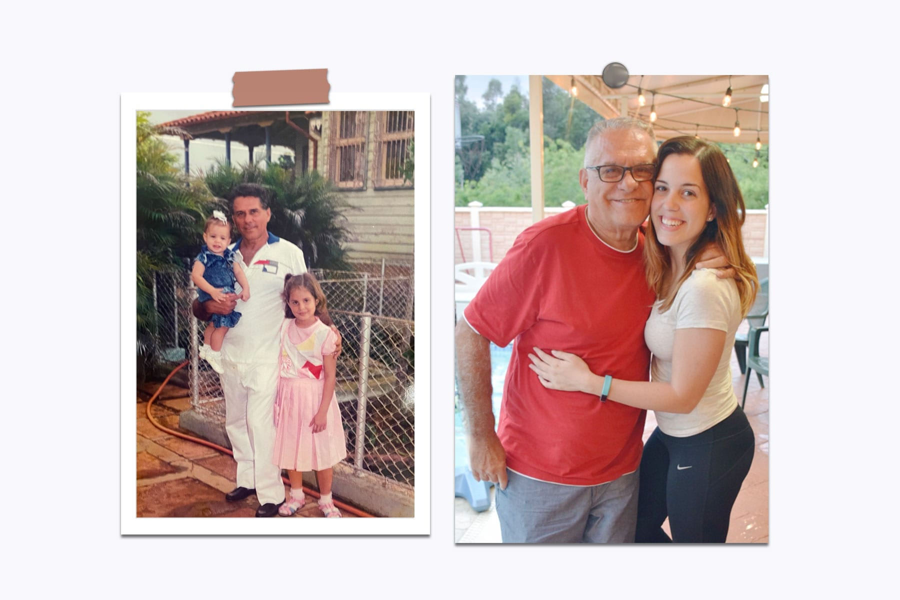 A collage of the Carrazana family.