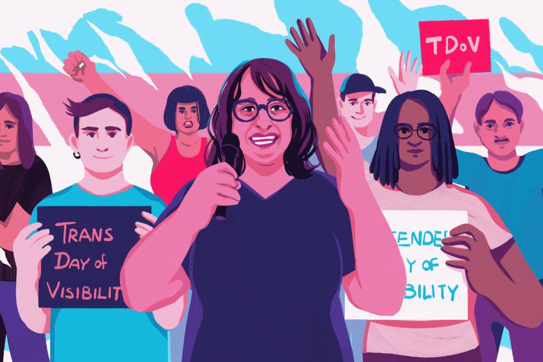 Rachel Crandell-Crocker on Trans Visibility Day.