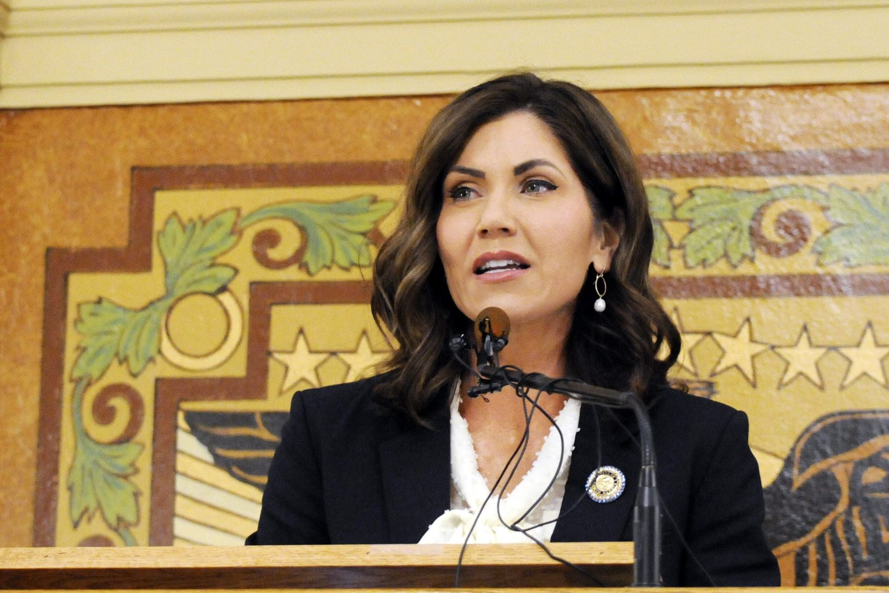 South Dakota Gov. Kristi Noem gives her first State of the State address.