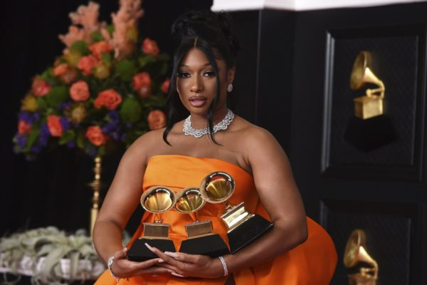 Megan Thee Stallion, winner of the awards for best rap song and best rap performance for
