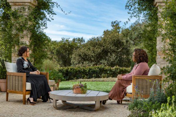 Oprah Winfrey interviews Meghan Markle.