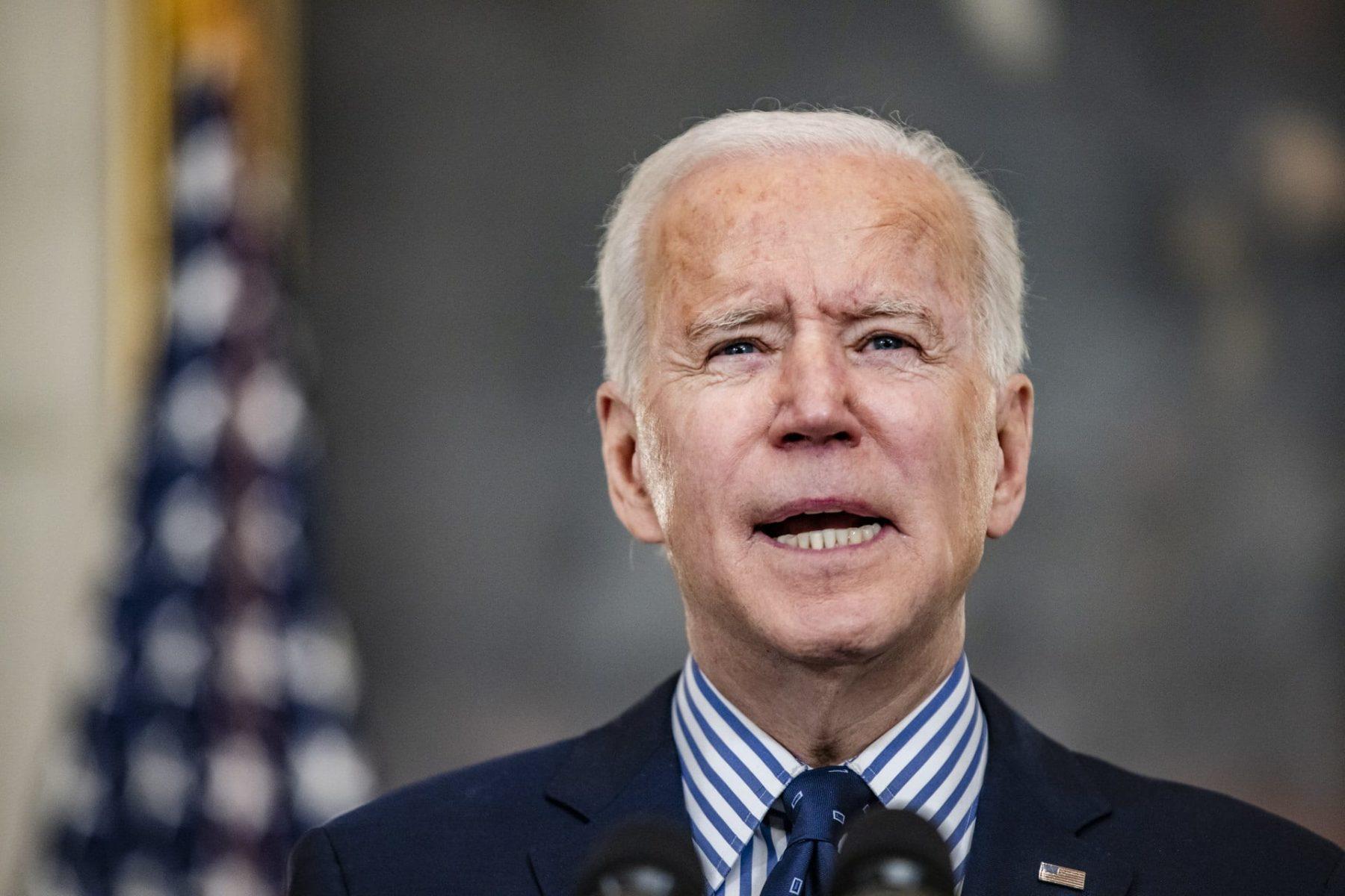 A close up shot of President Joe Biden.