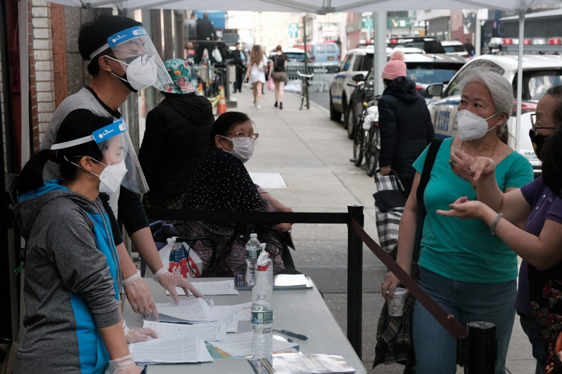 Vaccination clinic in New York