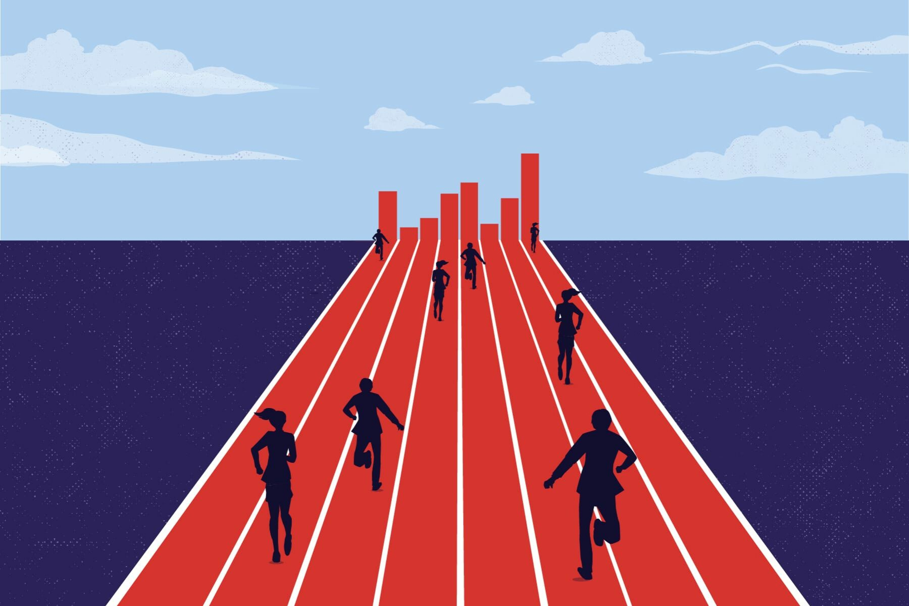 Illustration of Corporate companies BLM financial pledges.