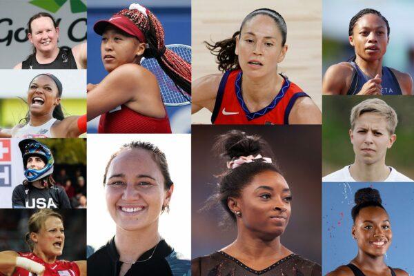 Photo collage of 2020 US Olympic Athletes