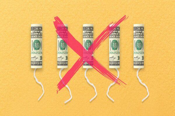 Tampons tax illustration.