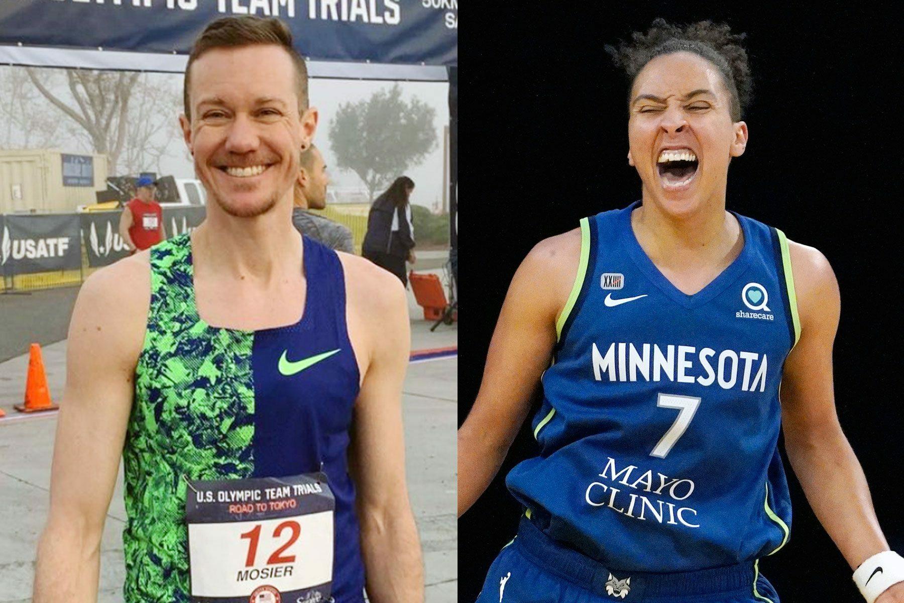Trans athletes Chris Mosier and Layshia Clarendon.