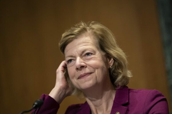 Sen. Tammy Baldwin, D-Wisc., testifies before the Senate Finance Committee for the nomination hearings of Andrea Palm.