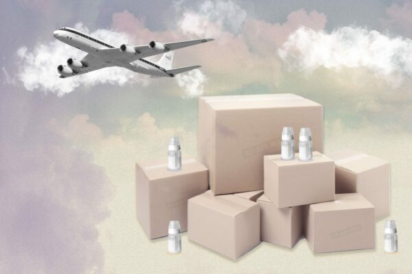 AIrplane and milk delivery.