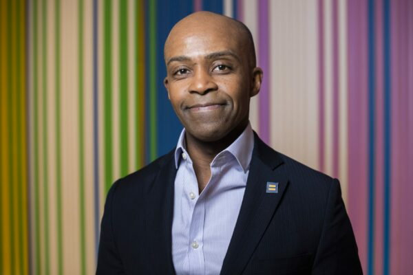 UNITED STATES - NOVEMBER 12: Alphonso David, president of the Human Rights Campaign, is photographed in their office on Tuesday, November 12, 2019. (Photo By Tom Williams/CQ-Roll Call, Inc via Getty Images)